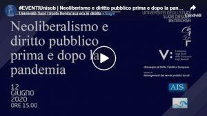 Webinar 'Neoliberismo e diritto pubblico prima e dopo la pandemia'