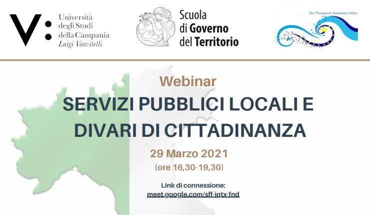 Webinar: Servizi pubblici locali e divari di cittadinanza – Rassegna stampa